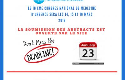 Deadline de soumission des abstracts
